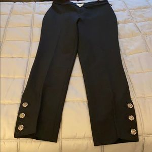 Kate Spade Black Pants with Buttons 00